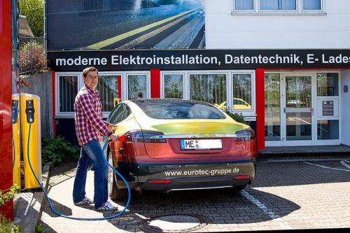 Ladestation, Eurotec, Elektromobil
