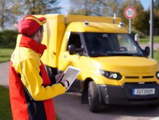 Logistik, Elektrofahrzeug. Autonom