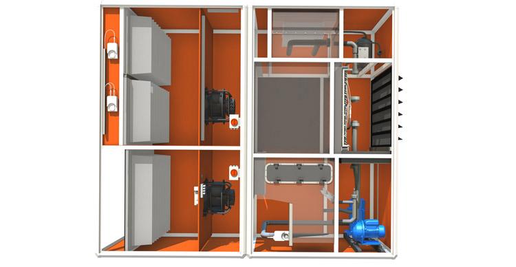 Klimatechnik für Rechenzentrum