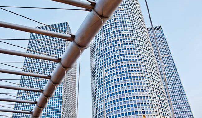 Wolkenkratzer-Komplex in Tel-Aviv in Israel