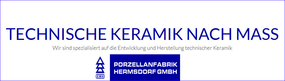Werbebanner für Porzelanfabrik Hermsdorf GmbH